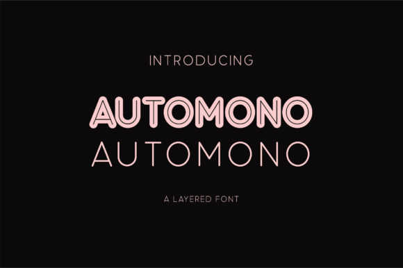 Print on Demand: Automono Sans Serif Font By Caoca Studios - Image 1