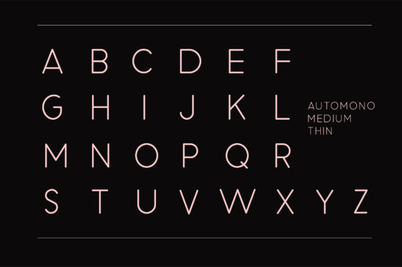 Print on Demand: Automono Sans Serif Font By Caoca Studios - Image 8