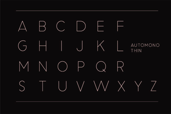 Print on Demand: Automono Sans Serif Font By Caoca Studios - Image 10