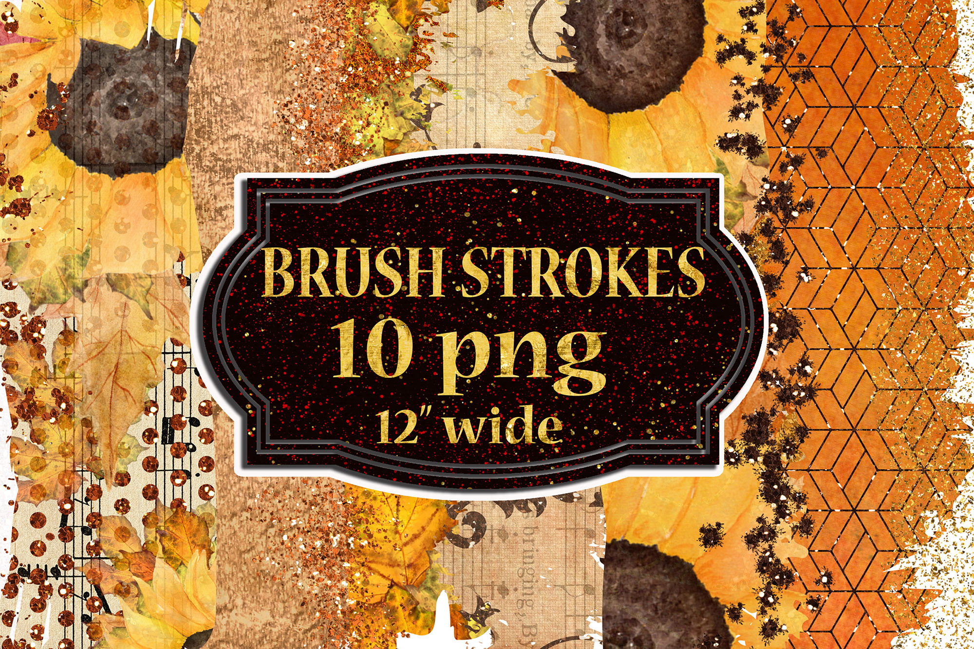 Download Free Autumn Brush Strokes Fall Color Palette Graphic By Chilipapers Creative Fabrica for Cricut Explore, Silhouette and other cutting machines.