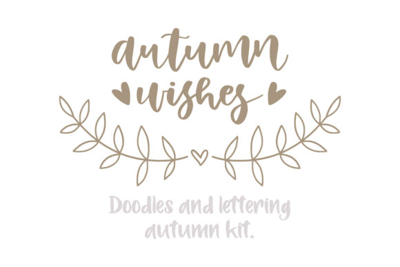 Autumn Doodle & Lettering Kit. Graphic Illustrations By Sentimental Postman