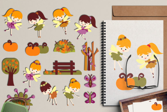 Print on Demand: Autumn Fairy Graphic Illustrations By Revidevi - Image 1