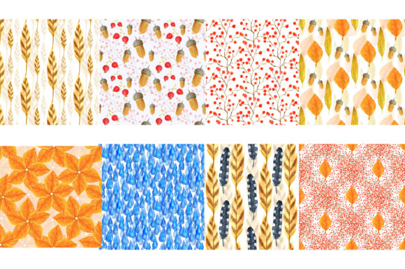 Autumn Watercolor Design Graphic Illustrations By worldion