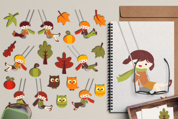 Print on Demand: Autumn Swing Graphic Illustrations By Revidevi - Image 1