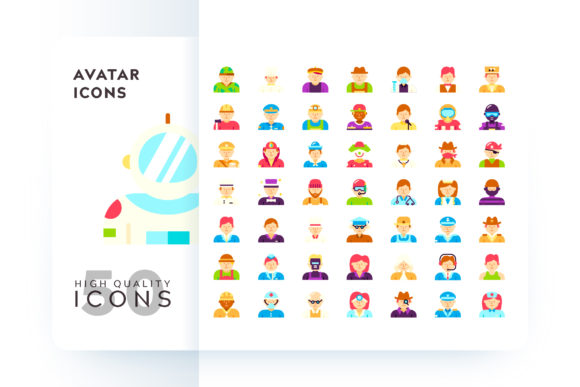 Avatar Icons Graphic By Goodware.Std