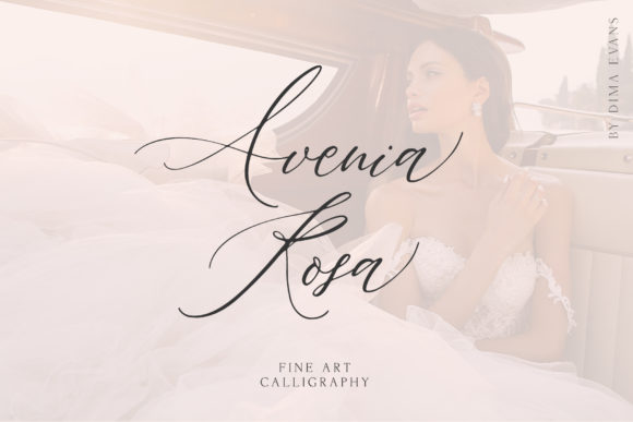 Print on Demand: Avenia Script & Handwritten Font By Dmitrii Chirkov - Image 1