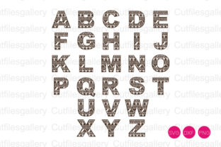 Download Free Aztec Alphabet Cut File Graphic By Cutfilesgallery Creative for Cricut Explore, Silhouette and other cutting machines.