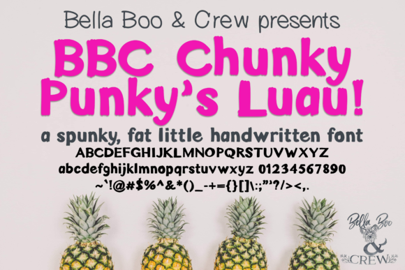 Print on Demand: BBC Chunky Punky Luau Display Font By BellaBoo