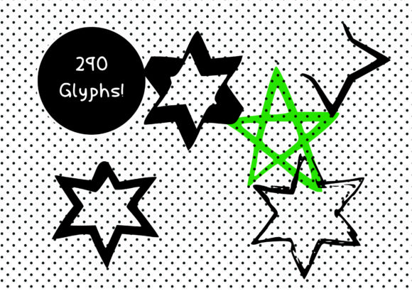 Print on Demand: BM Graphics - Stars Dingbats Font By GraphicsBam Fonts - Image 3