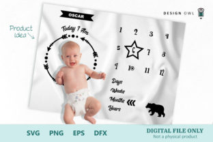 Baby Bear Milestone Blanket - SVG File Graphic By Design Owl