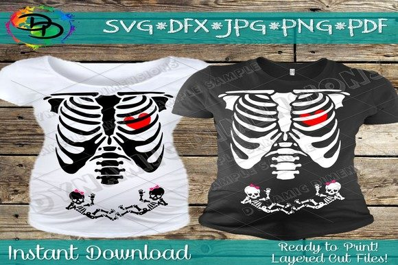 Download Free Baby Skeleton Pregnancy Svg Hallow Graphic By Dynamicdimensions for Cricut Explore, Silhouette and other cutting machines.