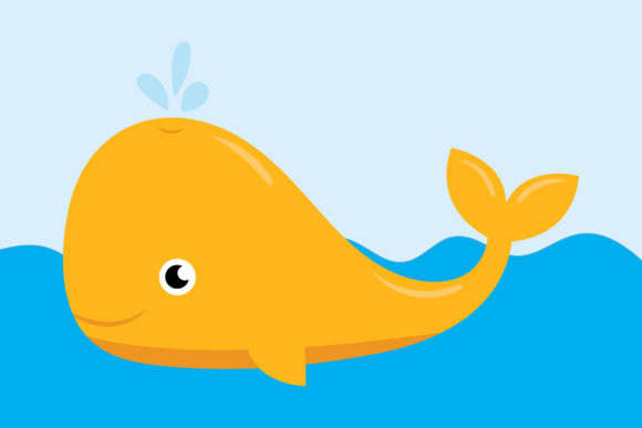 Baby Whale Clip Art Set Graphic Download