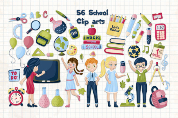 Back to School. Big Graphic Set. Graphic By Red Ink Image 2
