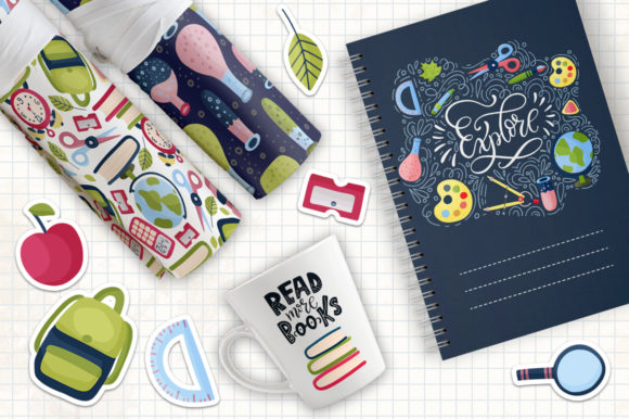 Back to School. Big Graphic Set. Graphic By Red Ink Image 4