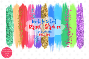 Back to School Brush Strokes Clipart Graphic By Happy Printables Club
