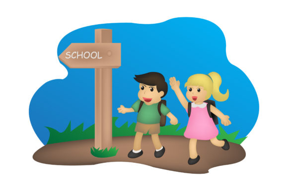 Print on Demand: Back to School Cute Character Graphic Illustrations By iop_micro