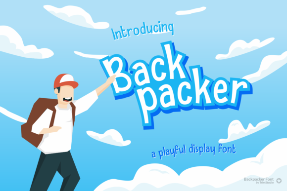 Print on Demand: Backpacker Display Font By Trim Studio
