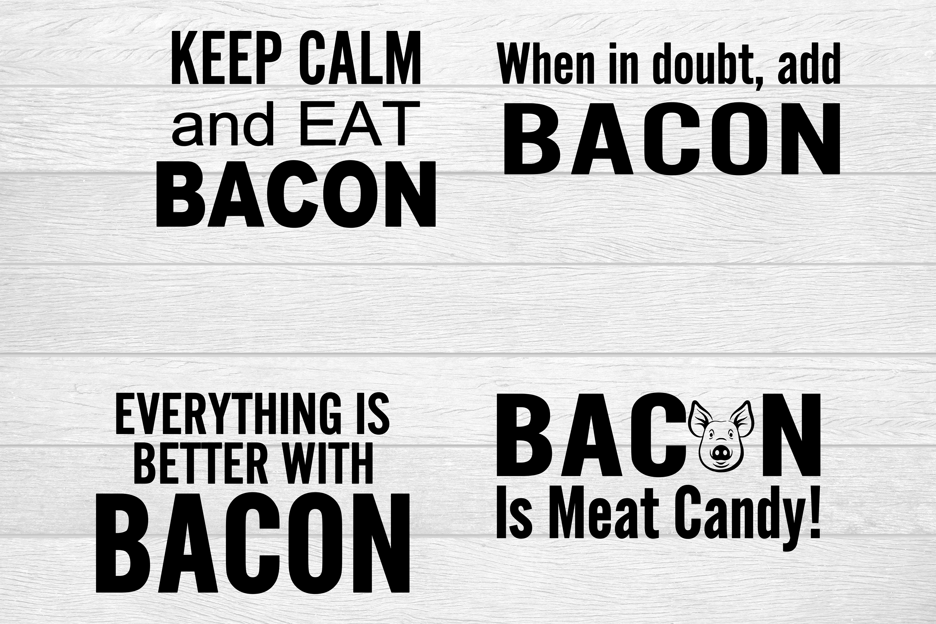 Download Free Bacon Pot Holder Sayings Graphic By Family Creations Creative for Cricut Explore, Silhouette and other cutting machines.