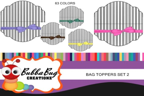 Bag Toppers Set 2 Graphic Crafts By BUBBABUG