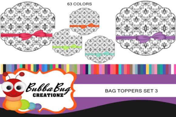 Bag Toppers Set 3 Graphic Crafts By BUBBABUG
