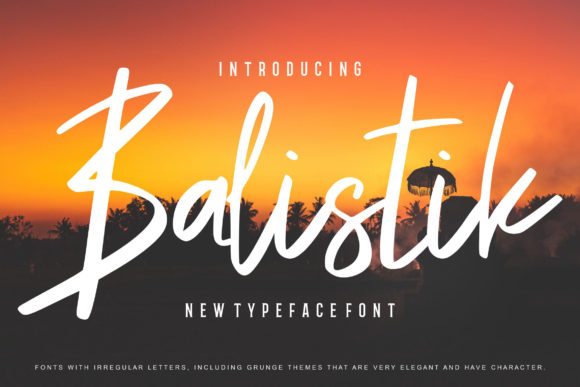 Print on Demand: Balistik Script & Handwritten Font By Vunira