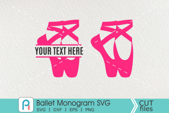 Ballet Shoes Svg, Ballet Shoes Monogram Graphic Crafts By Pinoyartkreatib