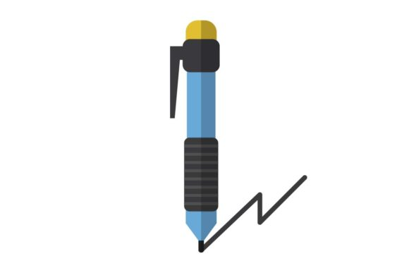 Ballpoint Icon Graphic By Home Sweet