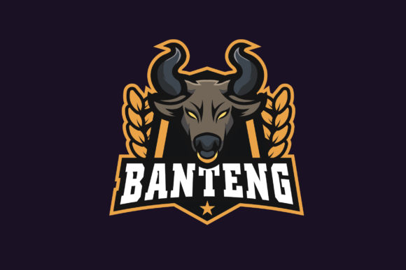 Print on Demand: Banteng E-Sports Logo Graphic Logos By ovoz.graphics