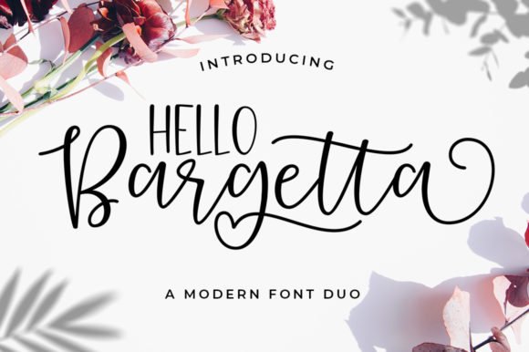 Print on Demand: Bargetta Duo Script & Handwritten Font By supotype