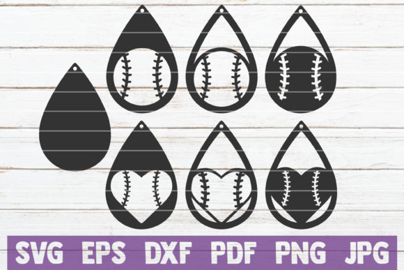 Baseball Earrings SVG Cut Files Graphic Graphic Templates By MintyMarshmallows