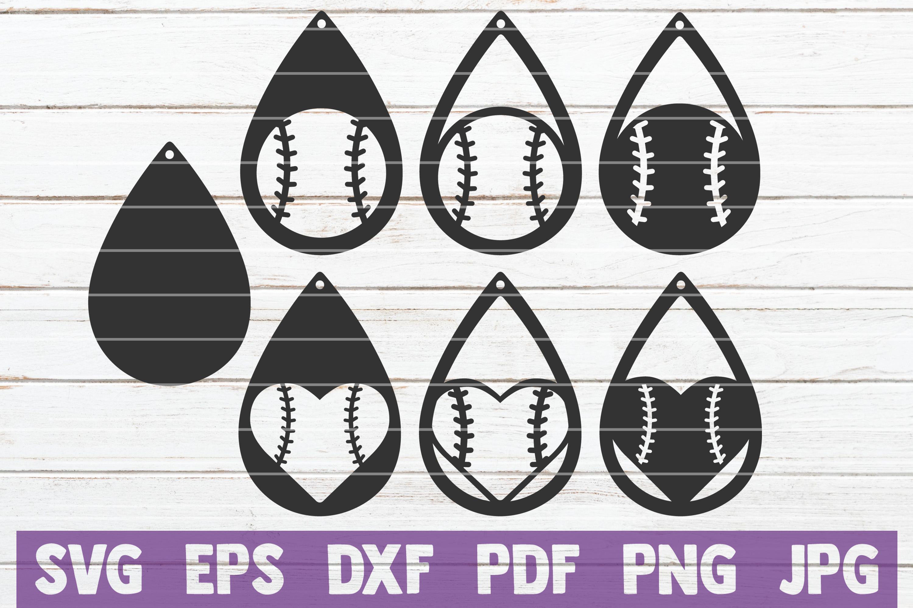 Download Free Baseball Earrings Cut Files Graphic By Mintymarshmallows for Cricut Explore, Silhouette and other cutting machines.