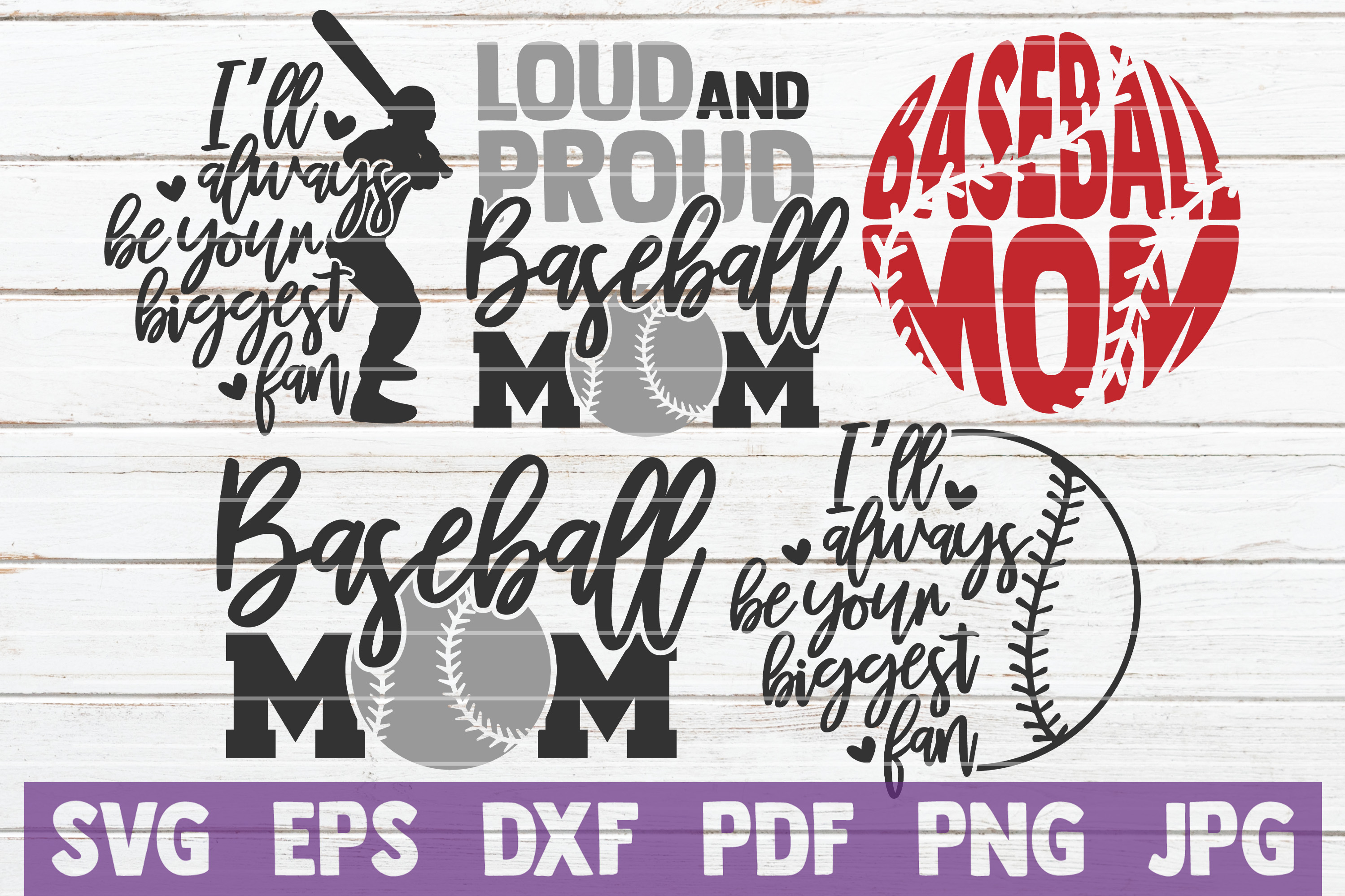 Baseball Mom Svg Bundle Svg Cut Files Graphic By
