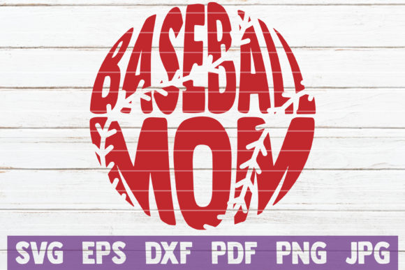 Download Free Baseball Mom Cut File Graphic By Mintymarshmallows Creative SVG Cut Files
