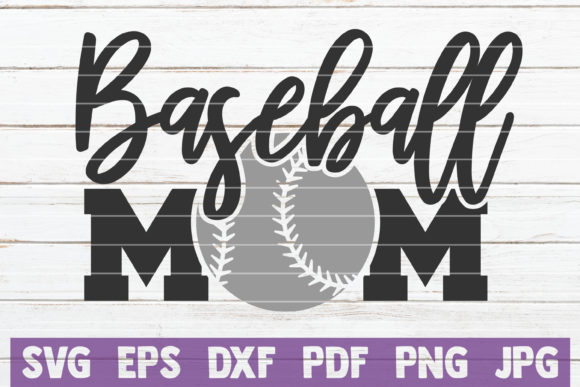 Download Free Baseball Mom Cut File Graphic By Mintymarshmallows Creative for Cricut Explore, Silhouette and other cutting machines.