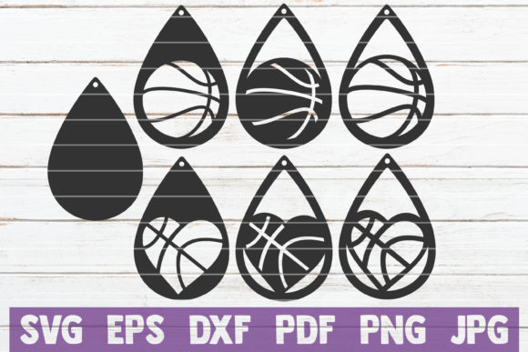 Basketball Earrings SVG Cut Files Graphic Graphic Templates By MintyMarshmallows