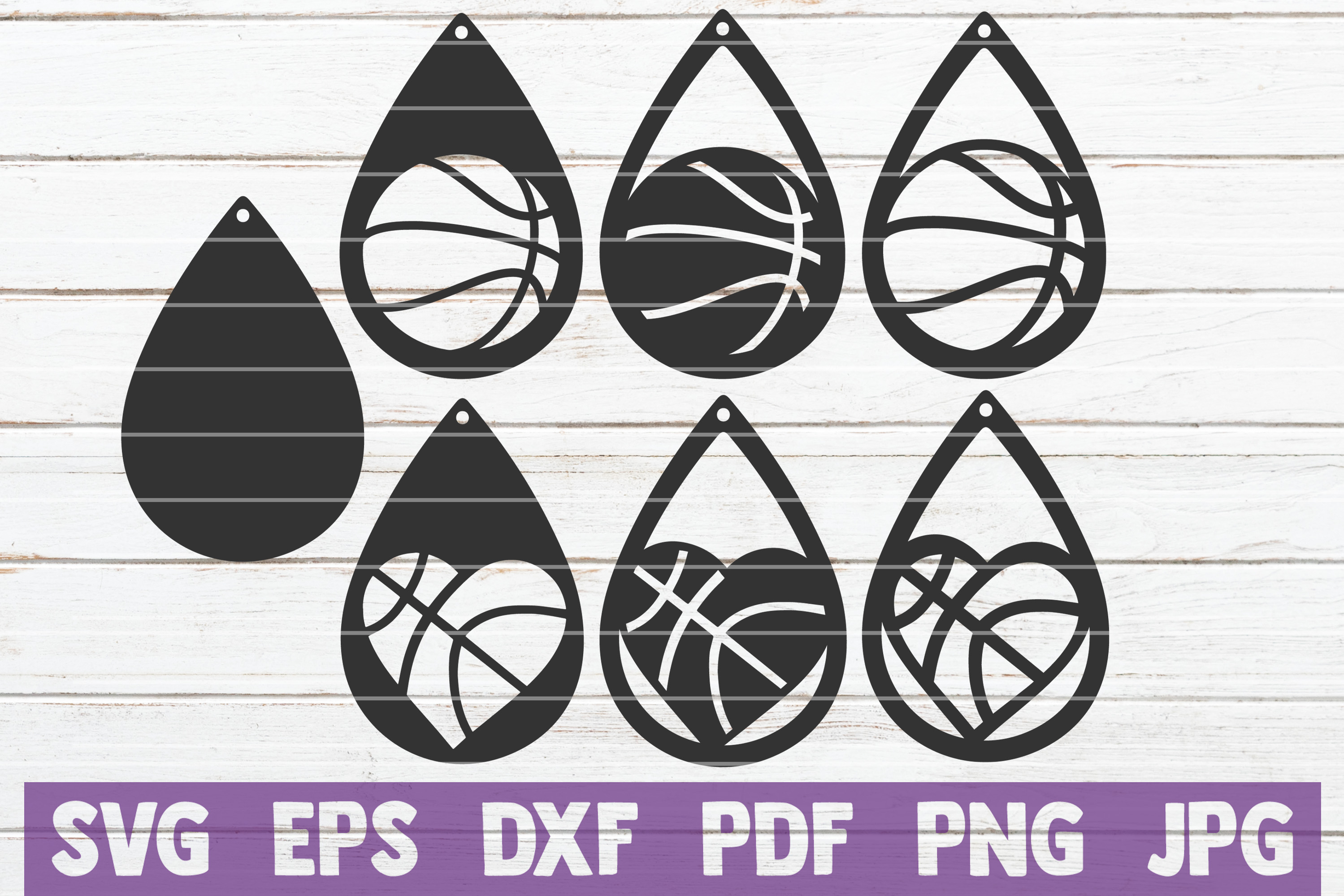 Download Free Basketball Earrings Cut Files Graphic By Mintymarshmallows for Cricut Explore, Silhouette and other cutting machines.