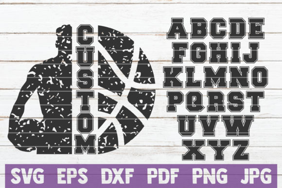 Basketball Frame SVG Cut File Graphic Graphic Templates By MintyMarshmallows