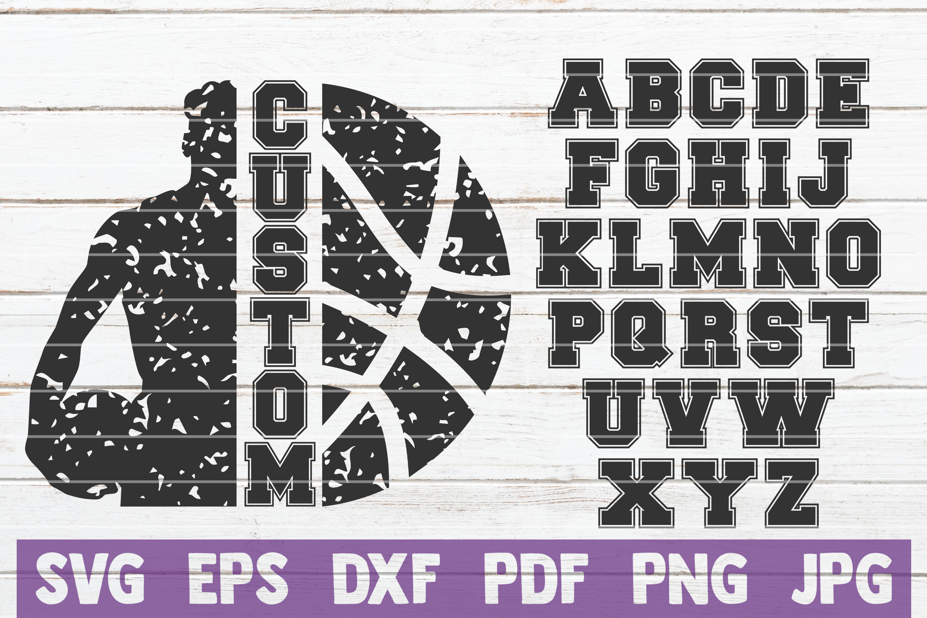 Download Free Basketball Frame Cut File Graphic By Mintymarshmallows for Cricut Explore, Silhouette and other cutting machines.