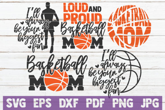 Basketball Mom SVG Bundle | Cut Files Graphic Graphic Templates By MintyMarshmallows