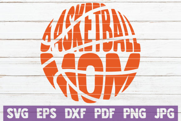 Download Free Basketball Mom Cut File Graphic By Mintymarshmallows Creative for Cricut Explore, Silhouette and other cutting machines.