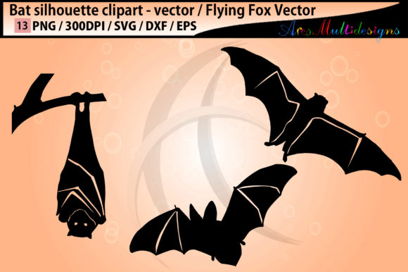 Print on Demand: Bat Silhouettes Graphic Crafts By Arcs Multidesigns - Image 2