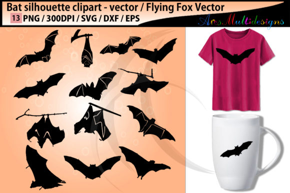Bat Silhouettes Graphic By Arcs Multidesigns