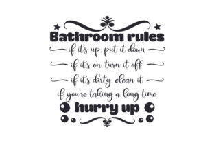 Bathroom Rules Craft Design By Creative Fabrica Crafts