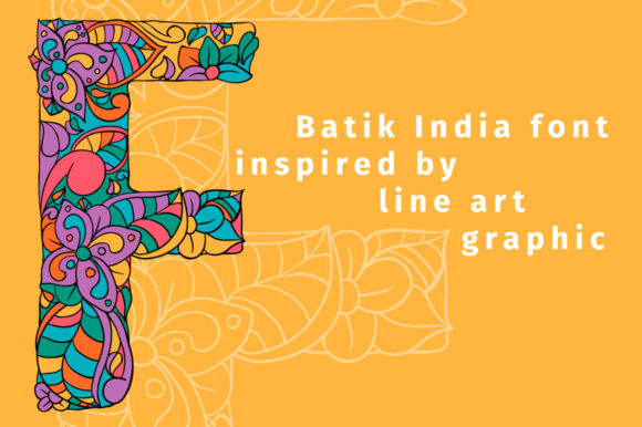 Print on Demand: Batik India Color Fonts Font By ilonitta.r - Image 2