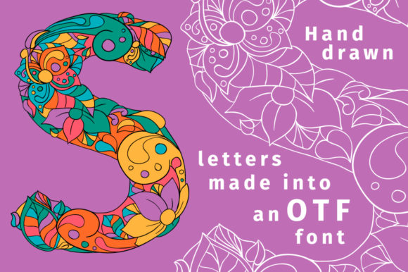 Print on Demand: Batik India Color Fonts Font By ilonitta.r - Image 3