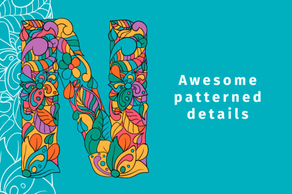 Print on Demand: Batik India Color Fonts Font By ilonitta.r - Image 4