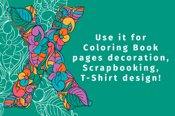 Print on Demand: Batik India Color Fonts Font By ilonitta.r - Image 5