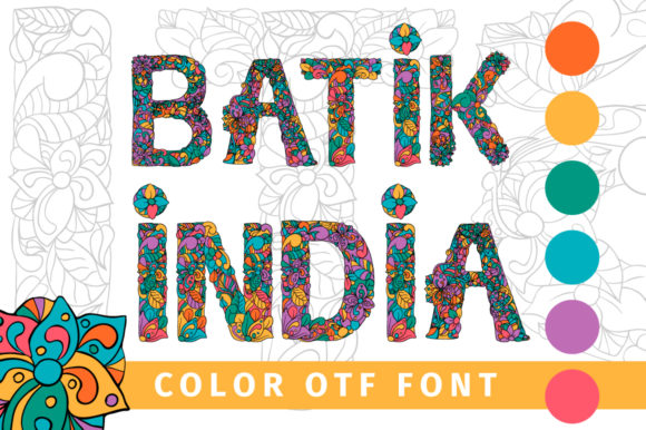 Print on Demand: Batik India Color Fonts Font By ilonitta.r