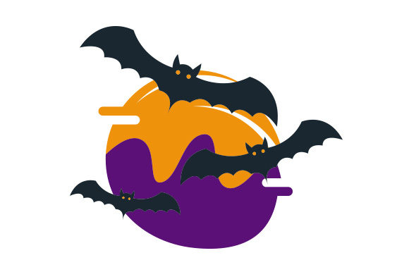 Bats Abstract Print Art Style Halloween Craft Cut File By Creative Fabrica Crafts - Image 1