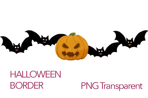 Download Free Bats And Pupmkin Halloween Border Design Grafico Por Milaski for Cricut Explore, Silhouette and other cutting machines.